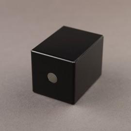 Cache douille carré noir - Falbala Luminaires