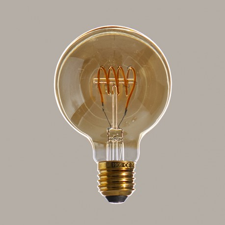 Globe 80 Edison ambré - Falbala luminaires