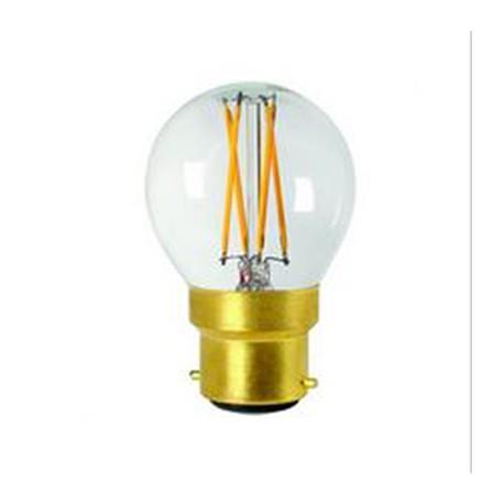 Sphérique Filament Led claire B22 5W - Falbala Luminaires