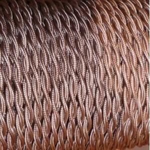 CABLE TEXTILE TORSADE 2X0.75mm² GRIS-ROSE