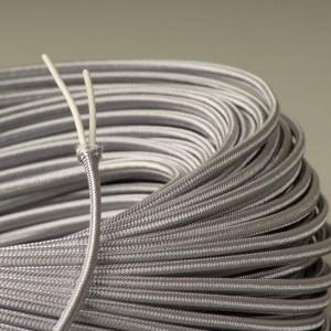 cable textile plat argent falbala luminaires. Black Bedroom Furniture Sets. Home Design Ideas