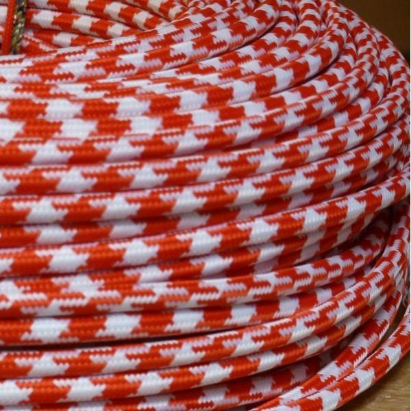 cable textile pied de poule pour deco et design lumiere. Black Bedroom Furniture Sets. Home Design Ideas