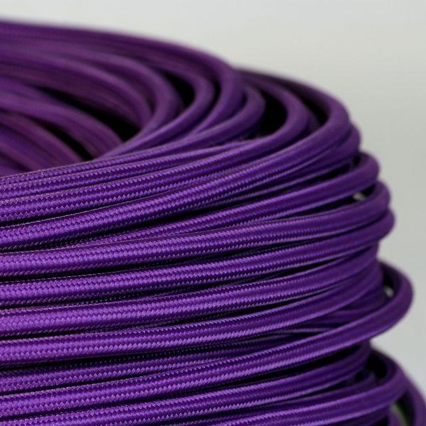 cable textile violet pour deco et design lumiere. Black Bedroom Furniture Sets. Home Design Ideas