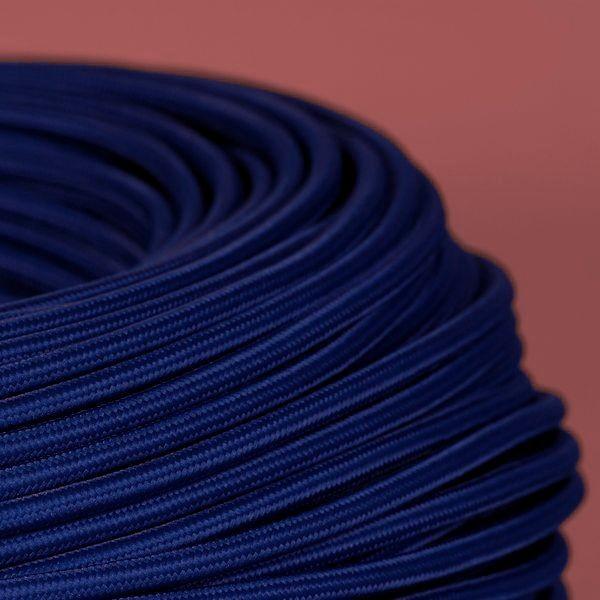 cable textile bleu saphir pour deco et design lumiere. Black Bedroom Furniture Sets. Home Design Ideas