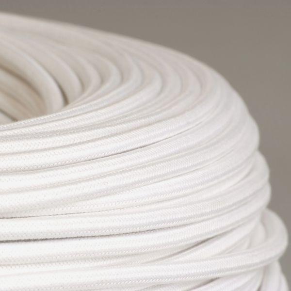 cable textile coton blanc pour deco et design lumiere. Black Bedroom Furniture Sets. Home Design Ideas