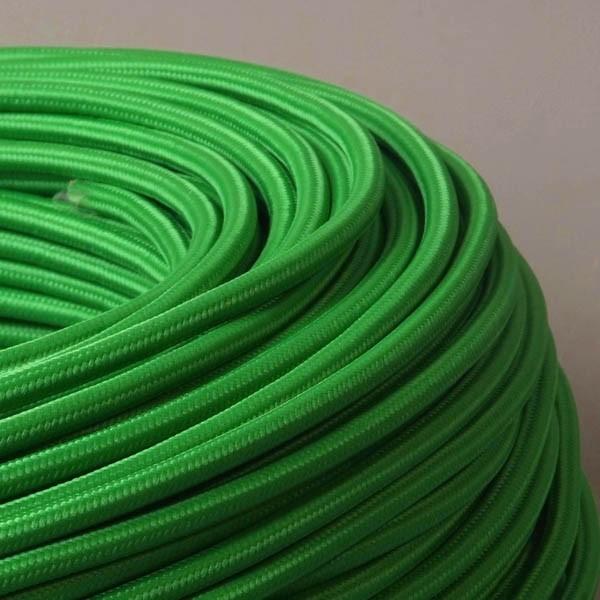 cable textile vert gazon pour deco et design lumiere. Black Bedroom Furniture Sets. Home Design Ideas