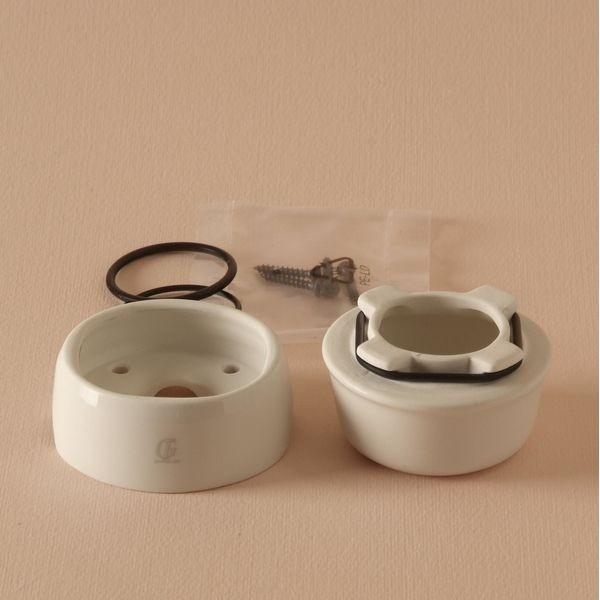 Boite de jonction porcelaine 60mm falbala luminaires - Boite de jonction ...