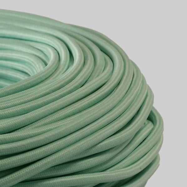 cable textile menthe pour deco et design lumiere. Black Bedroom Furniture Sets. Home Design Ideas