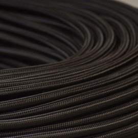 Câble textile noir 2x0.75mm² - Falbala-luminaires