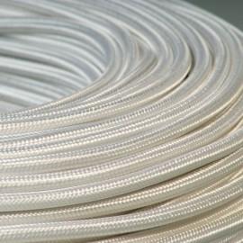 Câble textile blanc