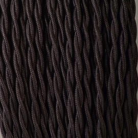CABLE TEXTILE TORSADE 2X0.50mm² NOIR