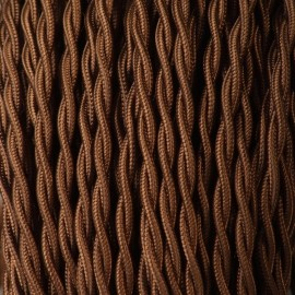 CABLE TEXTILE TORSADE 2X0.50mm² MARRON