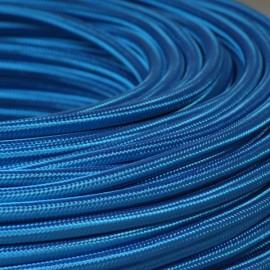 Câble textile bleu roi
