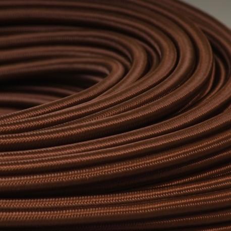 Câble textile marron 2x0.75mm² - Falbala-luminaires