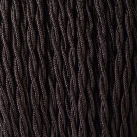 Câble textile torsadé 2x0.75mm² noir