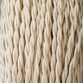 Câble textile torsadé 2x0.50mm² ivoire