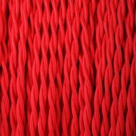 Câble textile torsadé 2x0.75mm² rouge