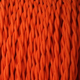 Câble textile torsadé 2x0.75mm² orange