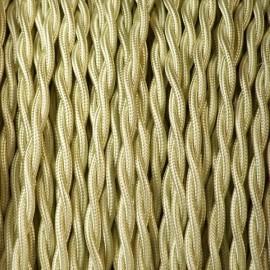 Câble textile torsadé 2x0.75mm² vert amande