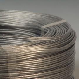 Câble scindex 2x0.35mm² argent transparent