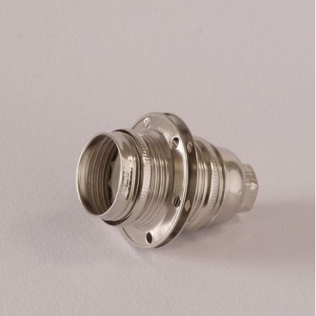 Douille E14 filetée nickel - Falbala Luminaires