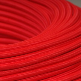CABLE TEXTILE 3x0.75mm² ROUGE