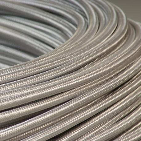 Câble textile argent 2x0.75mm² - Falbala-luminaires