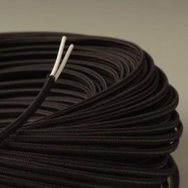 CABLE TEXTILE PLAT 2X0.35mm² NOIR