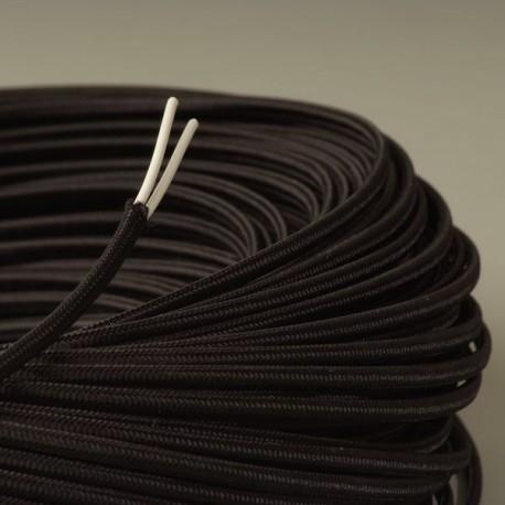 Cable textile plat noir - Cable electrique plat ...