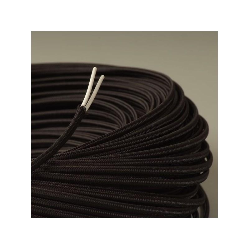 cable textile plat noir. Black Bedroom Furniture Sets. Home Design Ideas