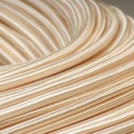 Câble textile ivoire