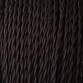 Câble torsadé 2x0.35mm² noir