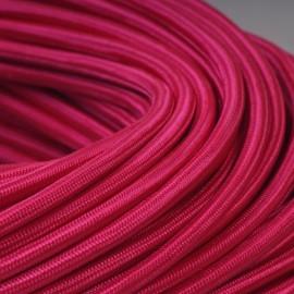 Câble textile fuchsia
