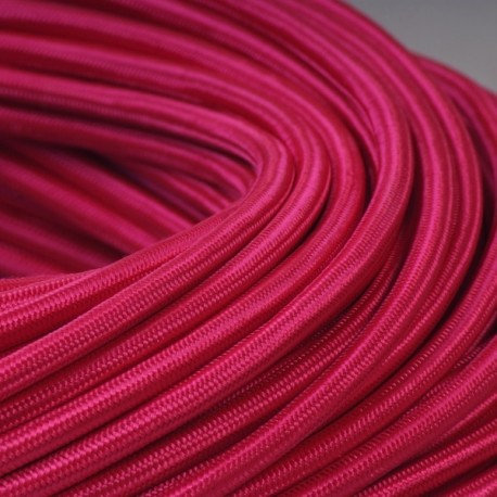 Câble textile fuchsia 2x0.75mm² - Falbala-luminaires