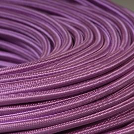 Câble textile mauve