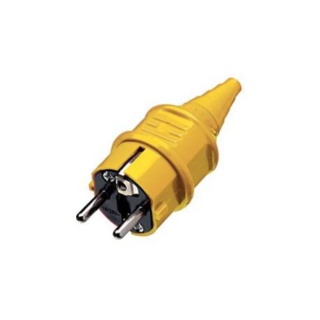 Fiche Schuko industrie jaune - Falbala-luminaires