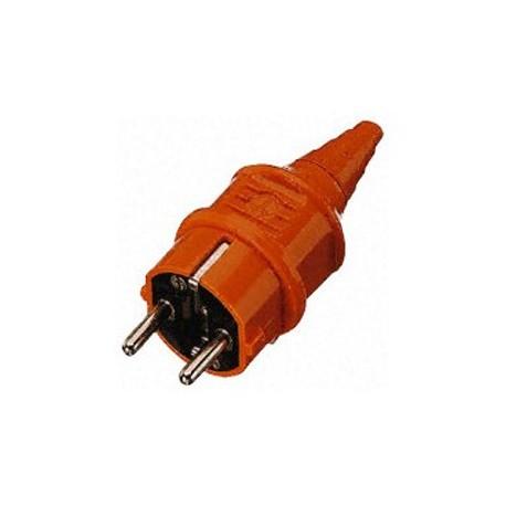 Fiche Schuko industrie orange - Falbala-luminaires