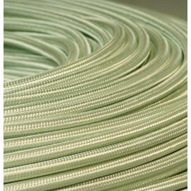 Câble textile vert d'eau