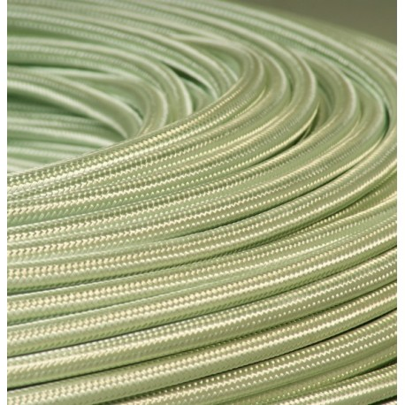 Câble textile vert d'eau 2x0.75mm² - Falbala-luminaires
