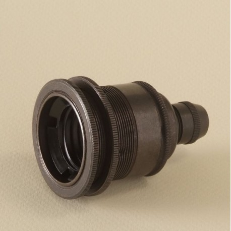 Douille E27 filetée bronze avec serre-câble - Falbala Luminaires