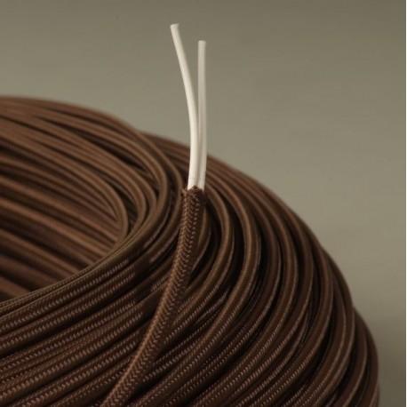 cable textile plat marron. Black Bedroom Furniture Sets. Home Design Ideas