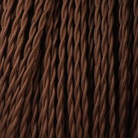 CABLE TORSADE 2X0.35mm² MARRON