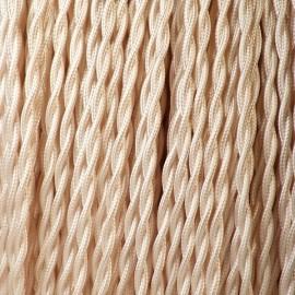 Câble torsadé 2x0.35mm² ivoire