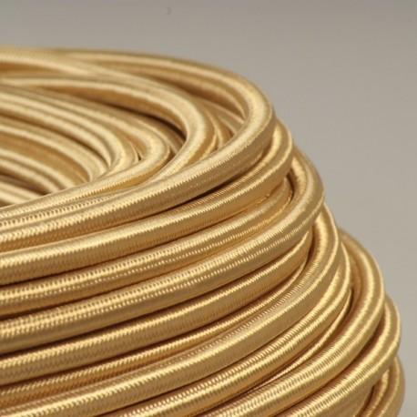 Câble textile or 2x0.75mm² - Falbala-luminaires