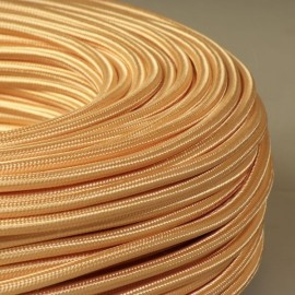 Câble textile abricot