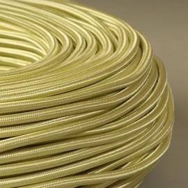 Câble textile vert pistache