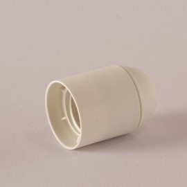 Douille E27 lisse thermoplastique blanc