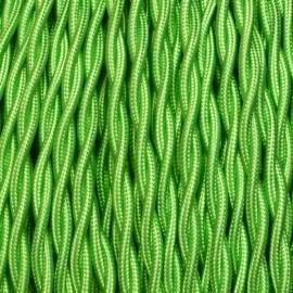 Câble textile torsadé 2x0.75mm² vert