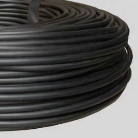 Câble rond PVC noir 3 x 0,75 - Falbala-luminaires