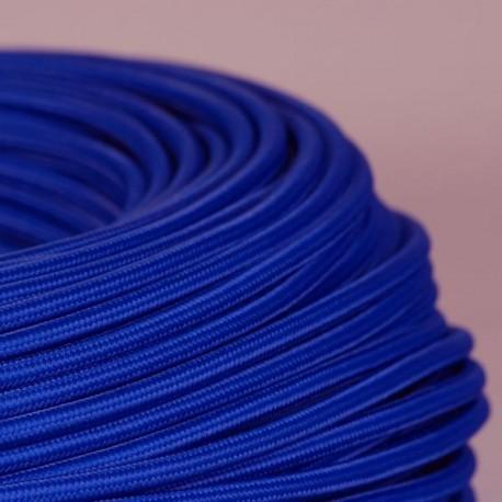 Câble textile bleu saphir 2x0.75mm² - Falbala-luminaires